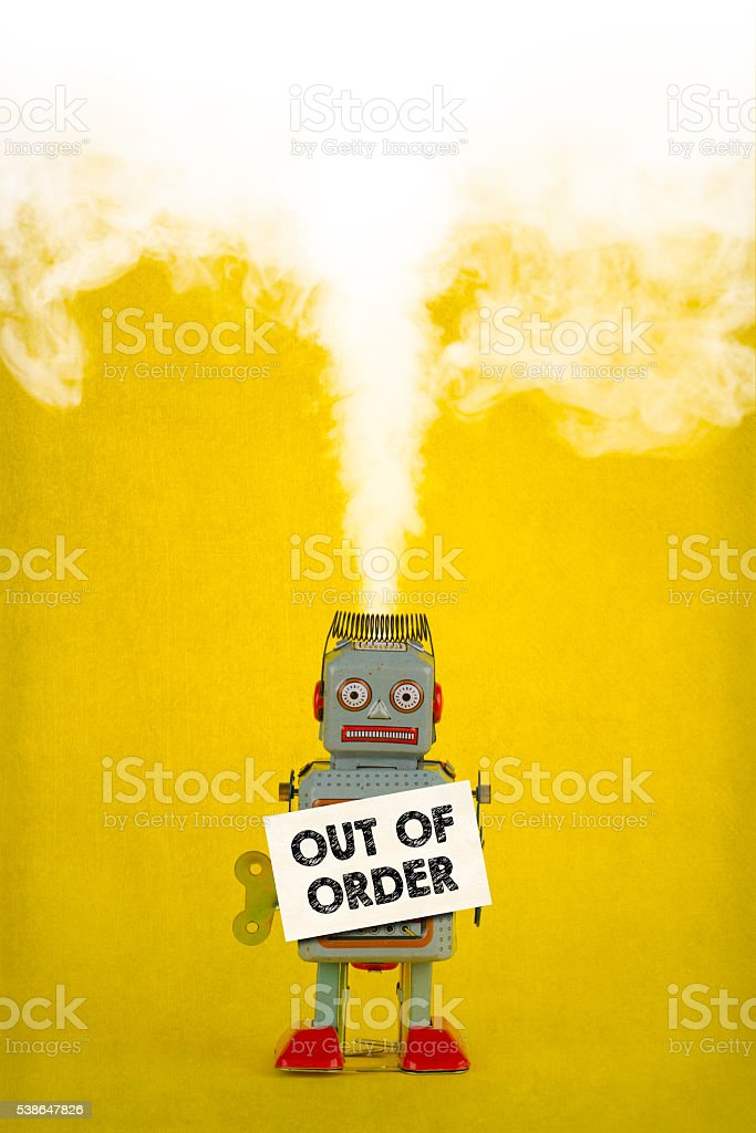 Out Of Order stock photo