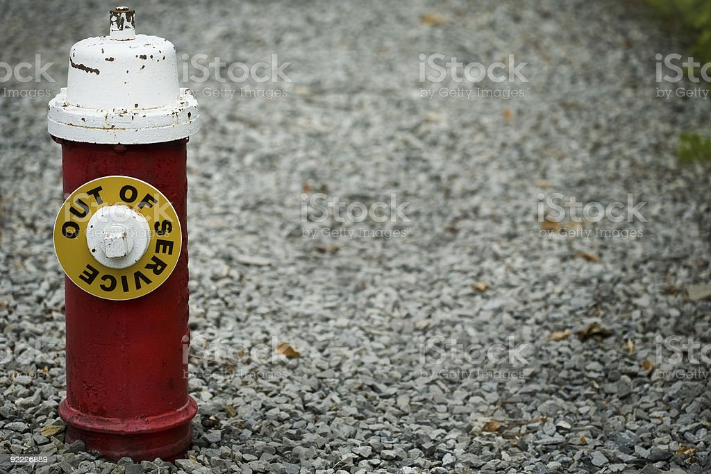 out of service fire hydrant royalty-free stock photo