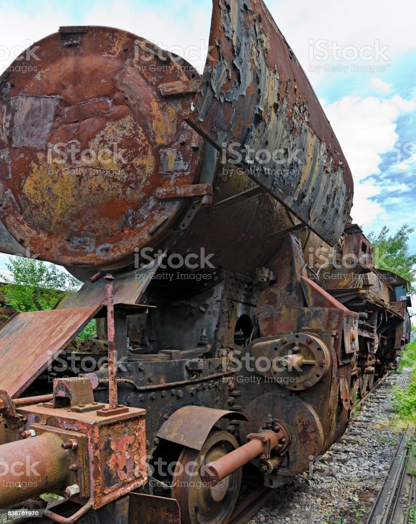 out of service steam locomotive stock photo