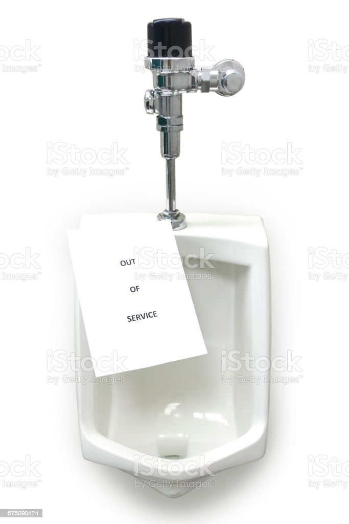 Out of Service Urinal stock photo