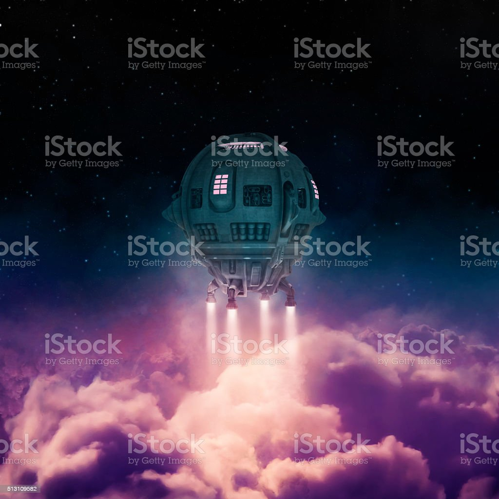 Out of the atmosphere stock photo