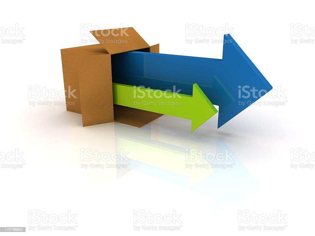 Out of the box royalty-free stock photo