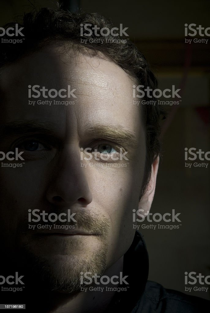 Out of the Dark stock photo