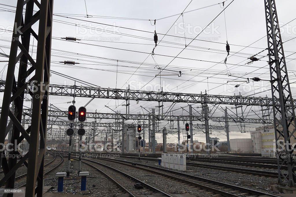 Salir de la estación de Puerta de Atocha - foto de stock