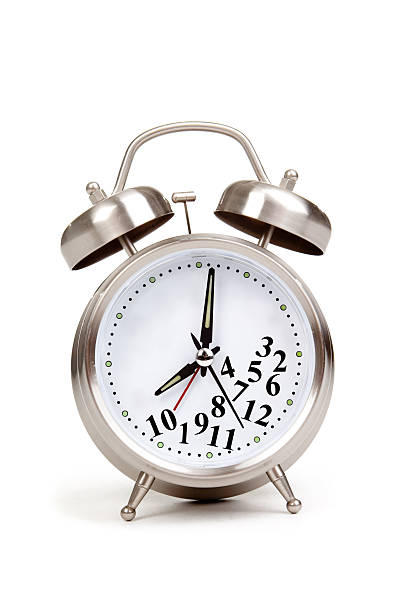 Out Of Time Alarm Clock With Fallen Numbers stock photo