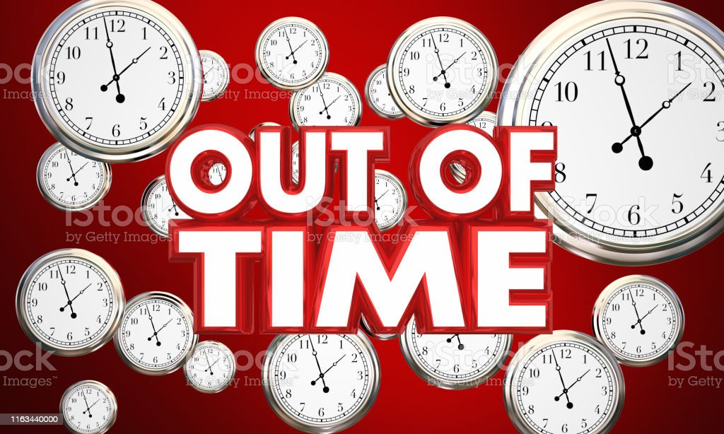 Out of Time Clocks Passing Flying By Deadline Countdown 3d...