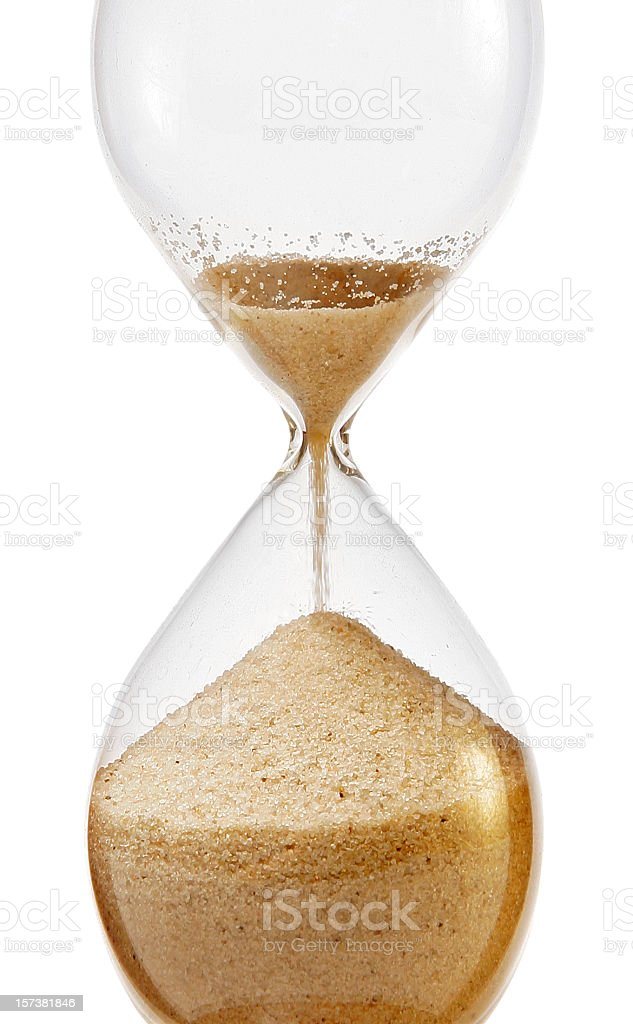 Out of time stock photo