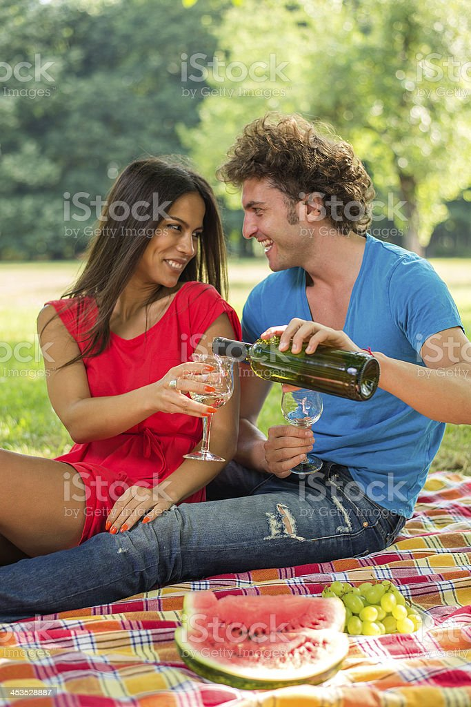 Out on a date royalty-free stock photo
