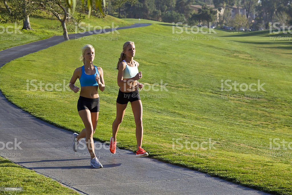 Out running royalty-free stock photo