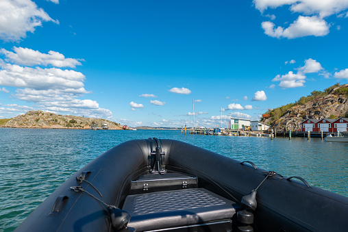 Out with the Rib in the archipelago of Gothenburg, Sweden.