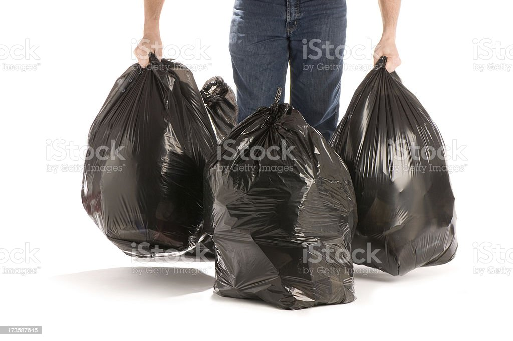 out with the trash stock photo
