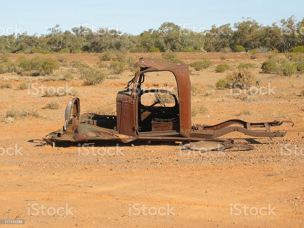 Outback Breakdown royalty-free stock photo