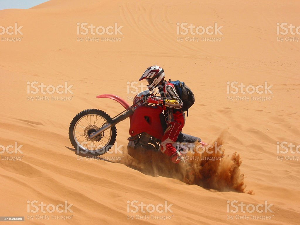 Outback Bury Motorcycle royalty-free stock photo