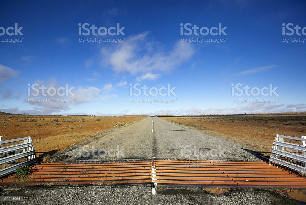 Outback Cattle Grid stock photo