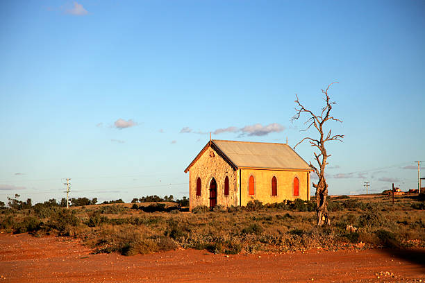 Outback Church stock photo