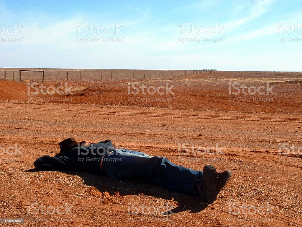 Outback nap royalty-free stock photo