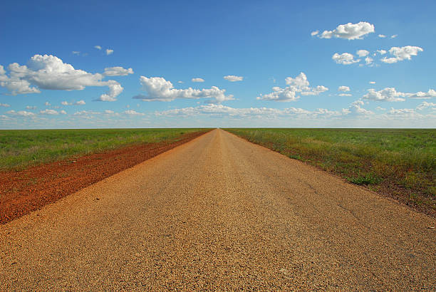 Outback Desert Road stock photo