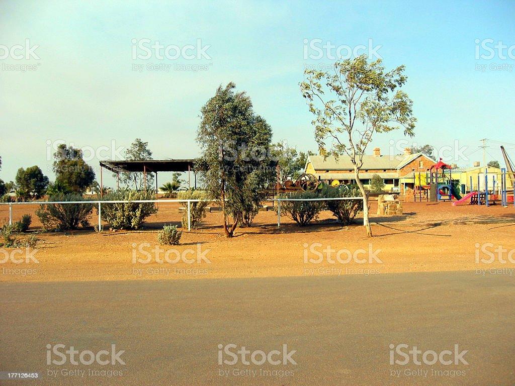 Outback Desert School stock photo