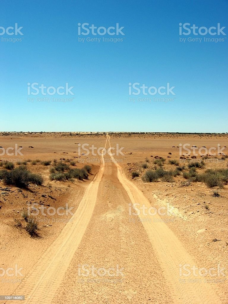 Outback Desert Track royalty-free stock photo