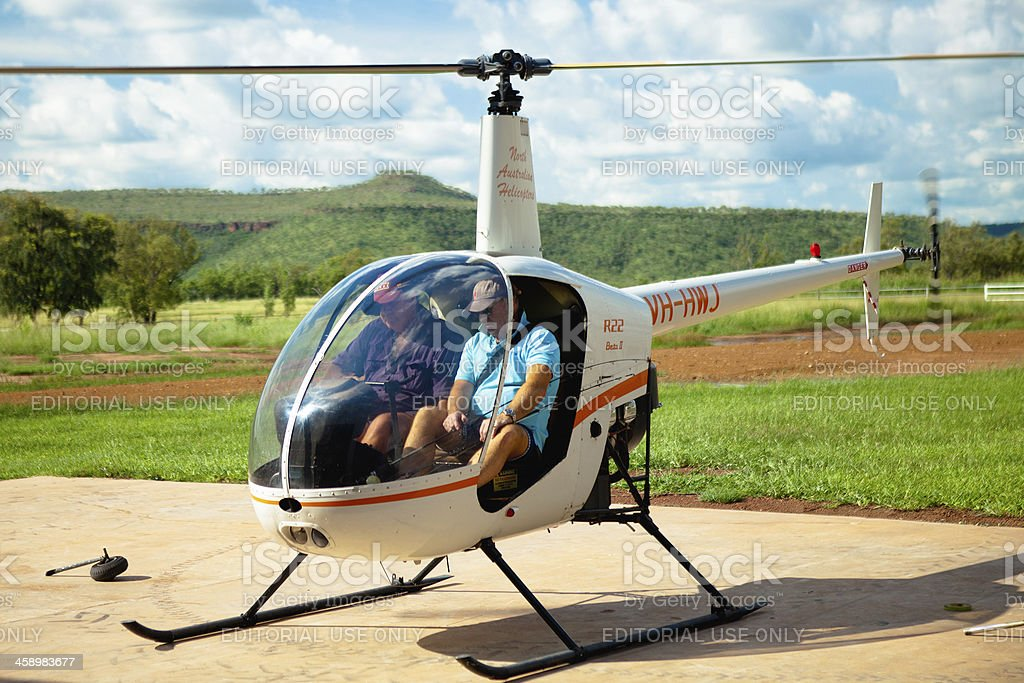 Outback Helicopter royalty-free stock photo