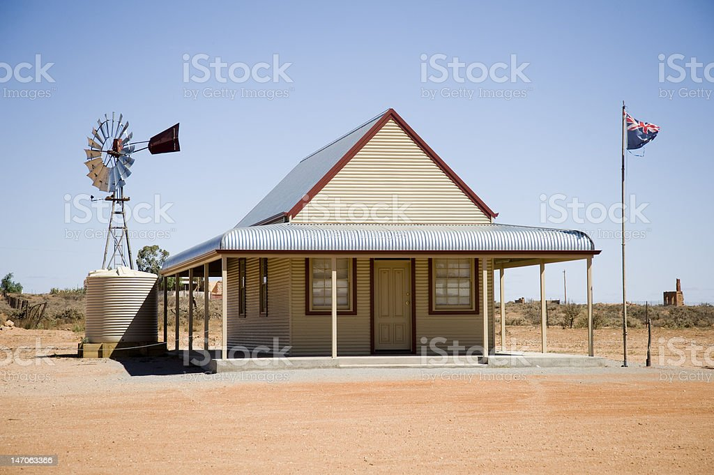 Outback house royalty-free stock photo
