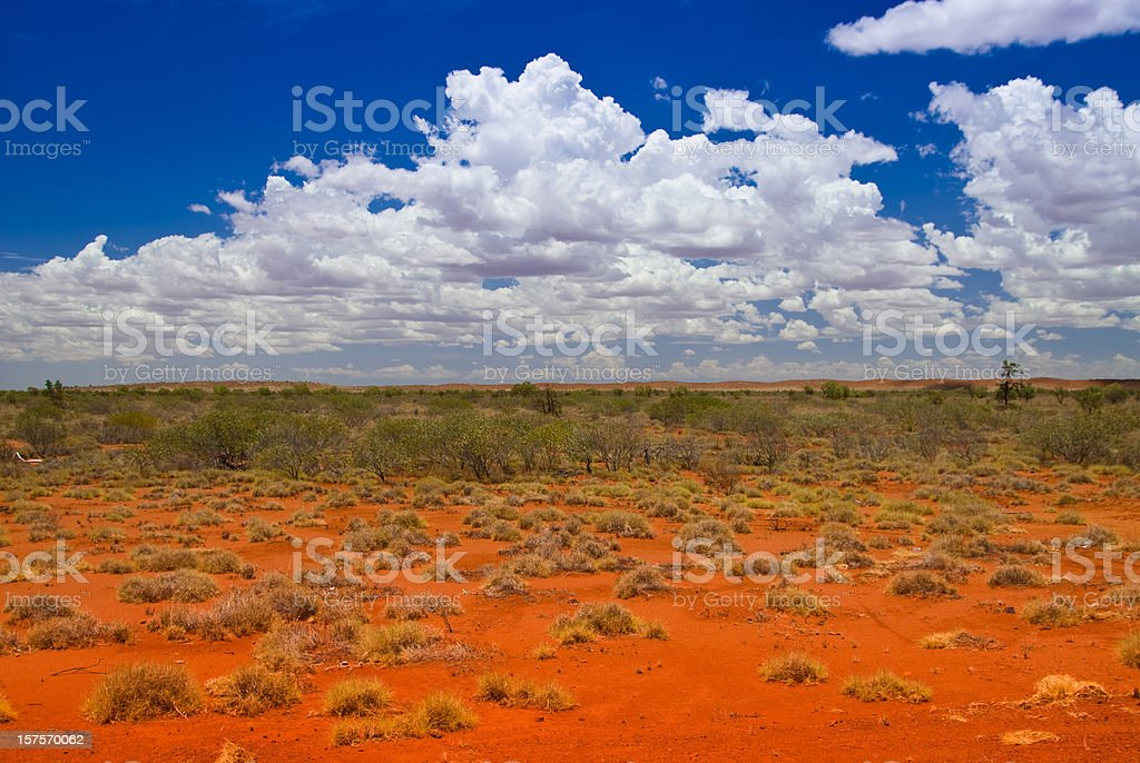 Outback Landscape with hills stock photo