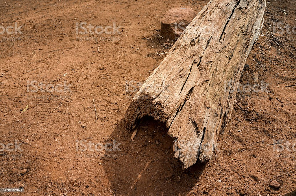 Outback Log royalty-free stock photo