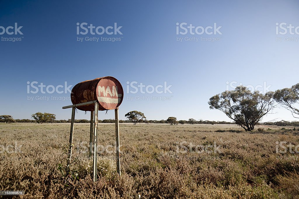Outback mail box stock photo