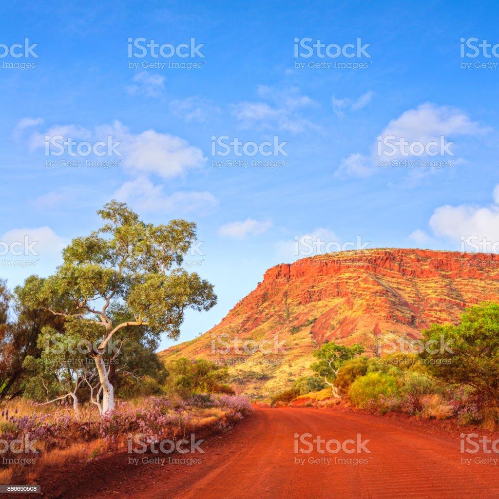 Outback Mount Nameless Western Australia Travel Landscape Square stock photo
