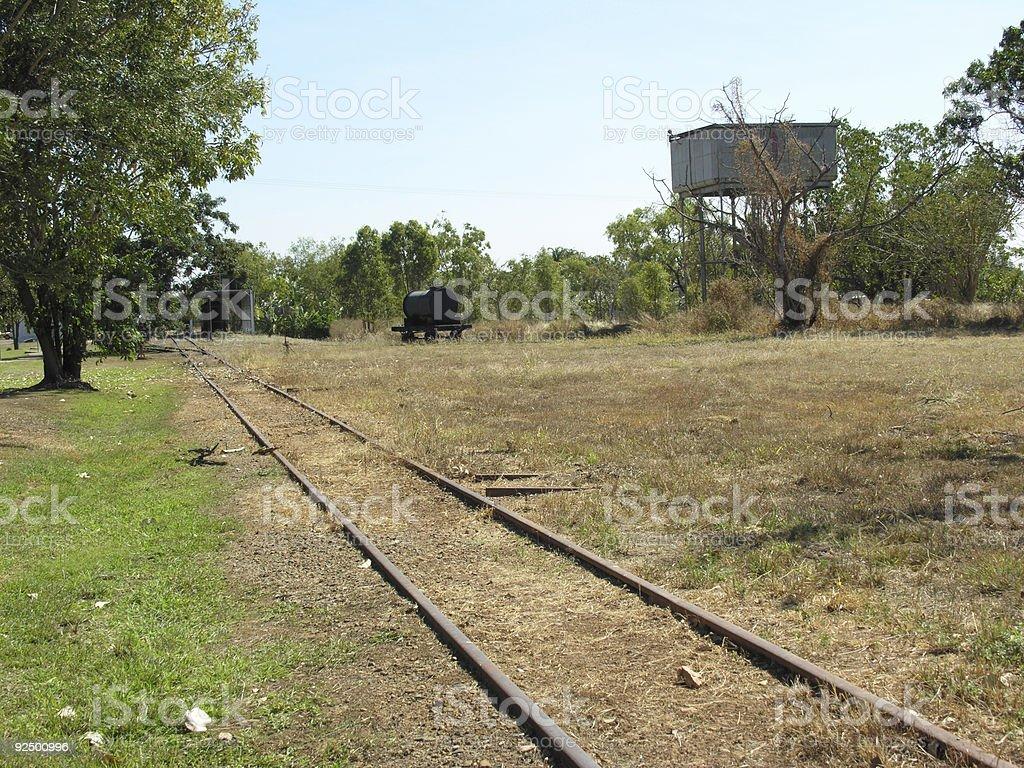 Outback narrow gauge railway royalty-free stock photo