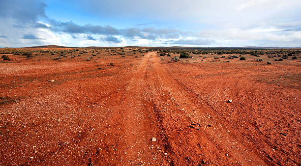 outback panorama - bush stockfoto's en -beelden