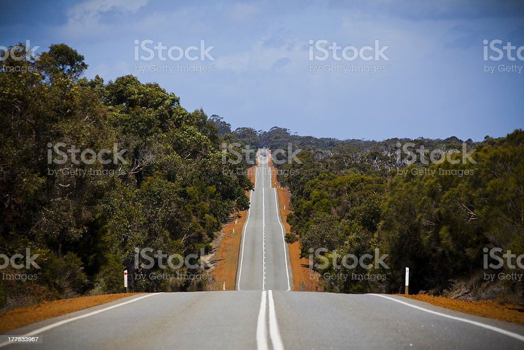 Outback road in Australia stock photo