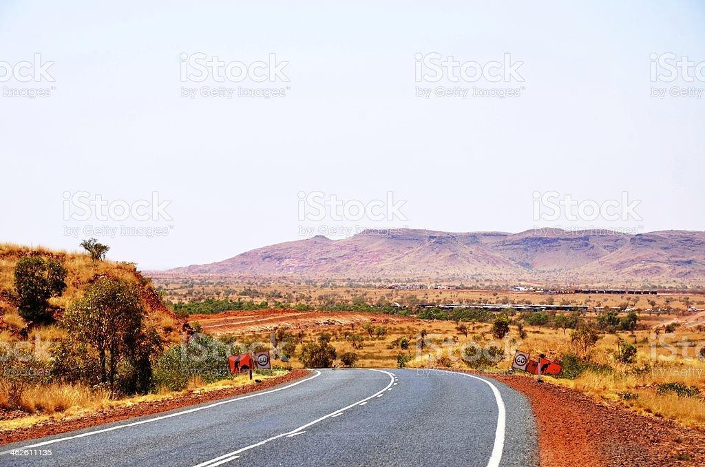 Outback Road, Pilbara Region stock photo