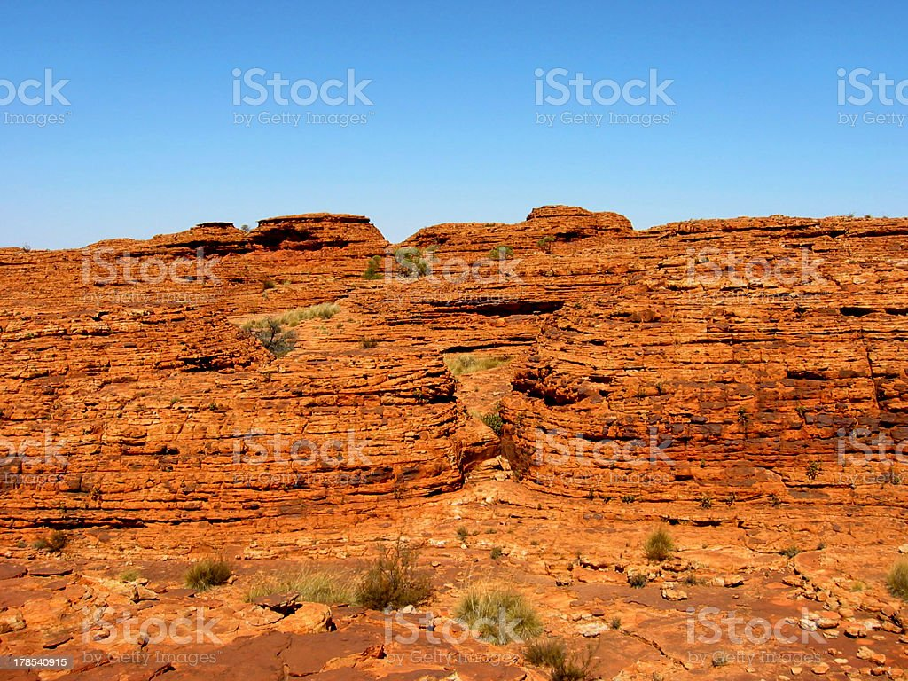 Outback Rock Wall royalty-free stock photo