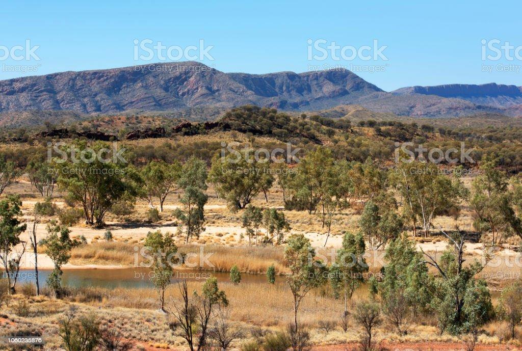 Outback Scene stock photo