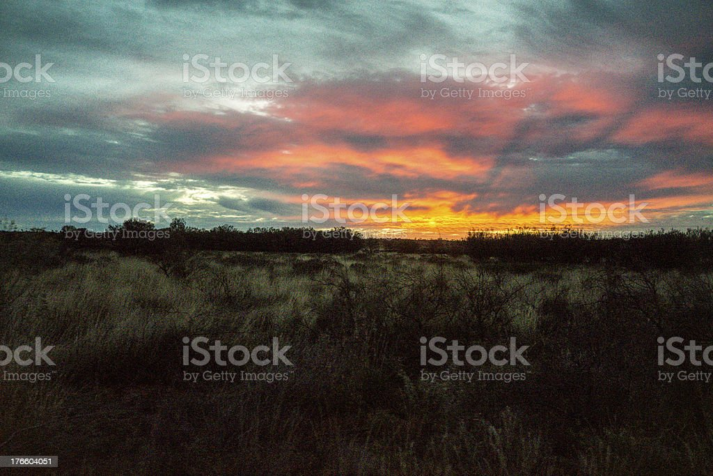Outback Sunset royalty-free stock photo