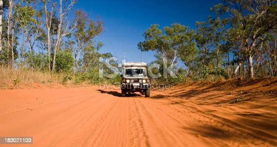Cruising the dirt roads on the Dampier Peninsula near Cape Leveque in northern Western Australia.