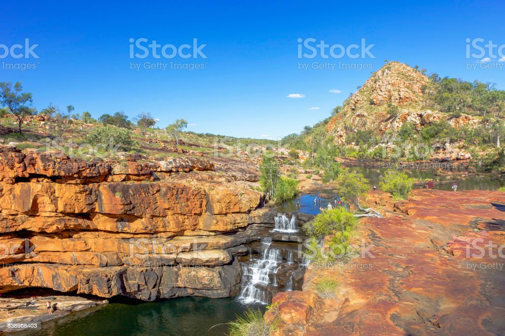 Outback Water Fall stock photo