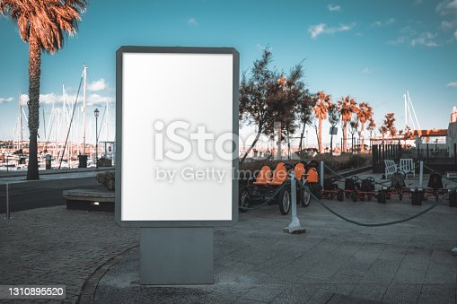 istock Outdoor advert placeholder template 1310895520