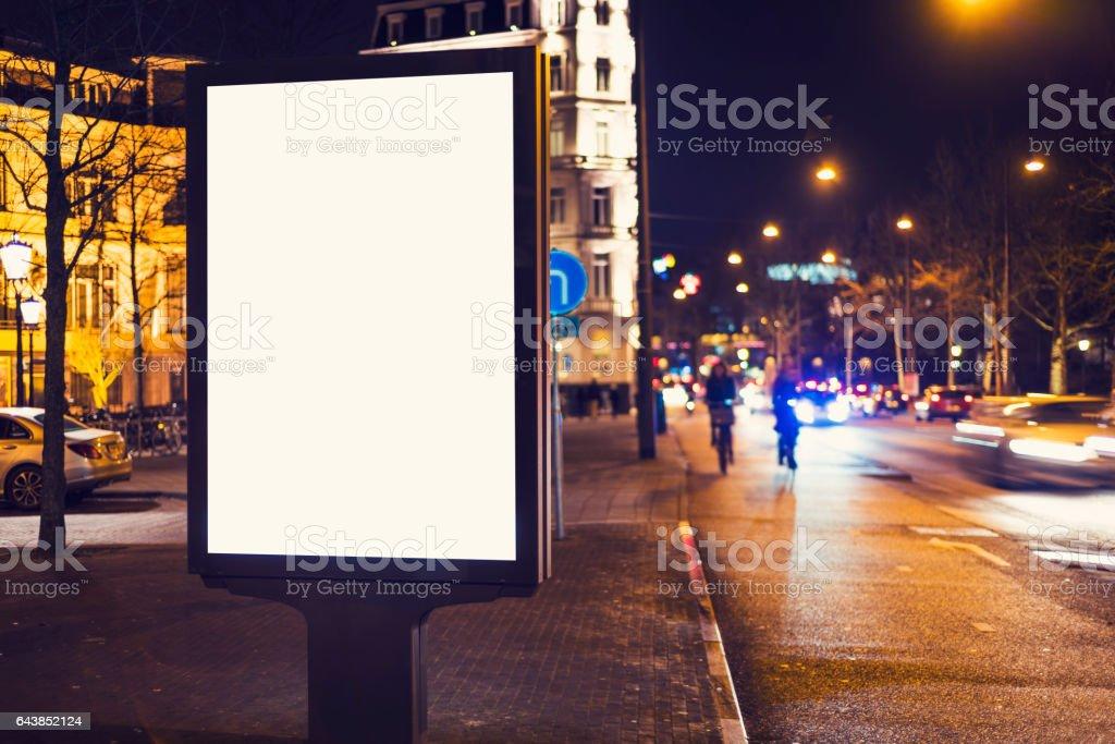 outdoor advertising billboard stock photo