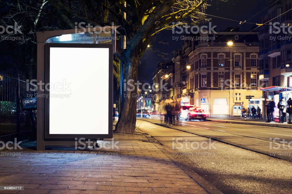 outdoor advertising billboard stock photo