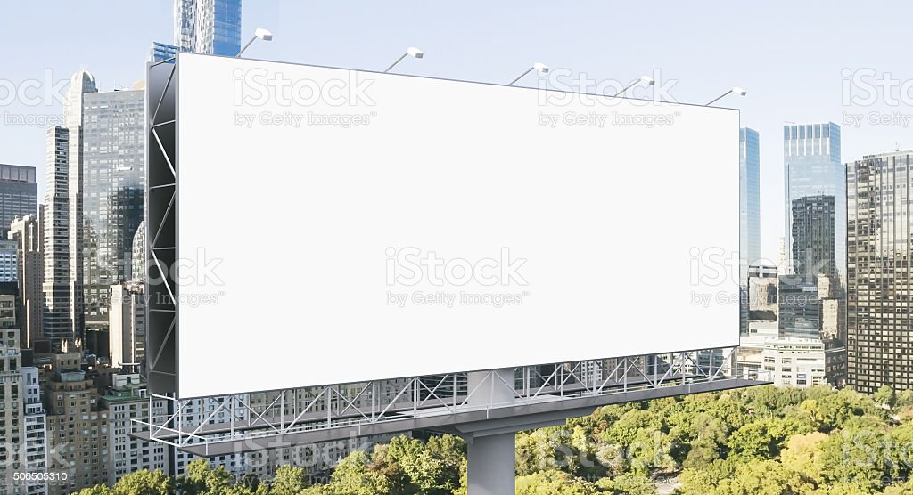 Outdoor advertising stock photo