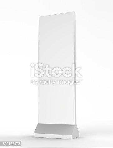 istock Outdoor Advertising POS POI Stand Banner Or Lightbox. Illustration Isolated On White Background. Mock Up Template Ready For Your Design. 825107172