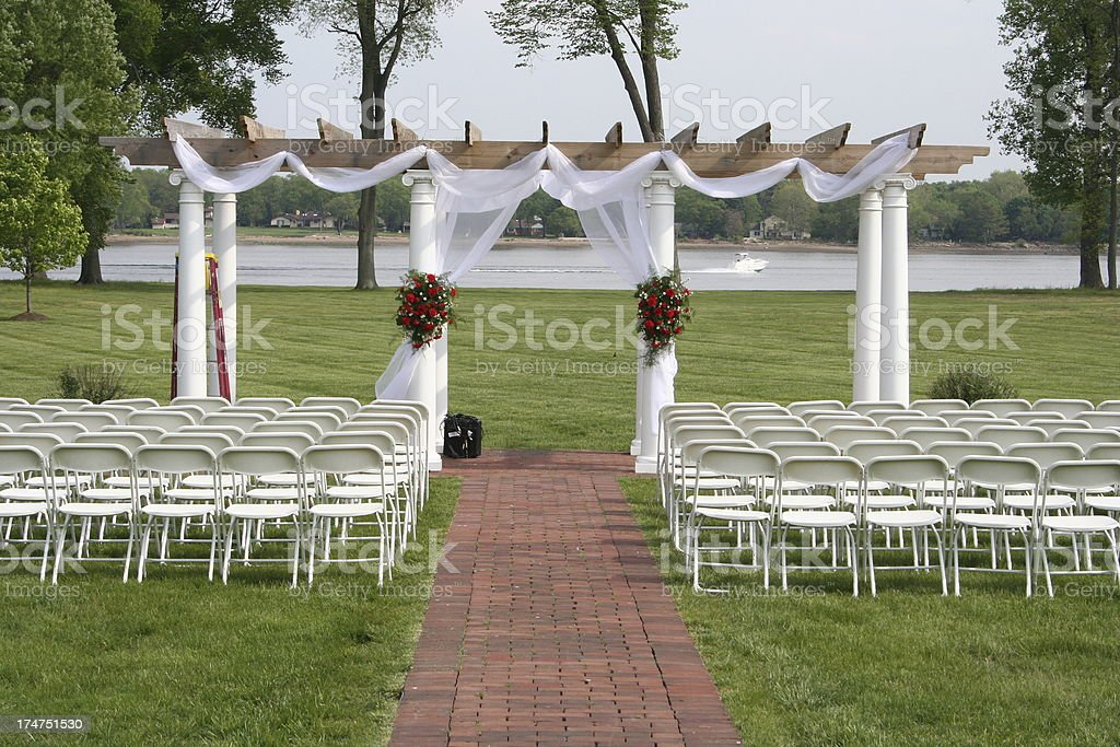 outdoor altar royalty-free stock photo