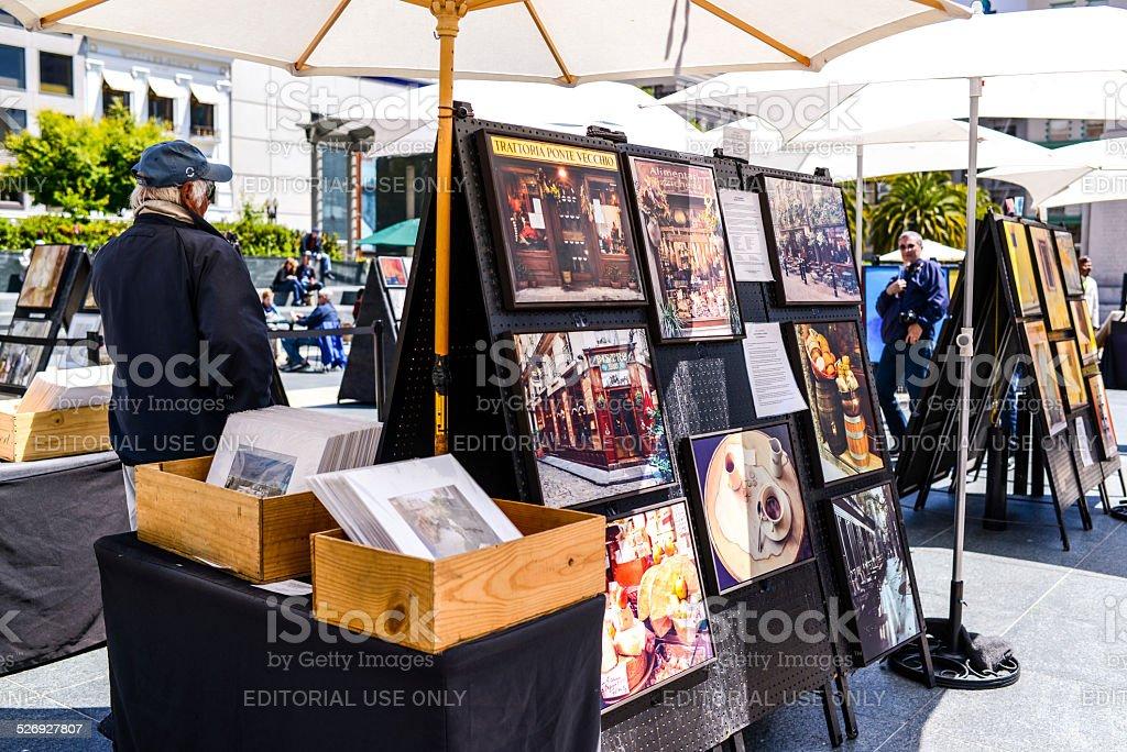 Открытая галерея искусств on Union Square, Сан-Франциско стоковое фото