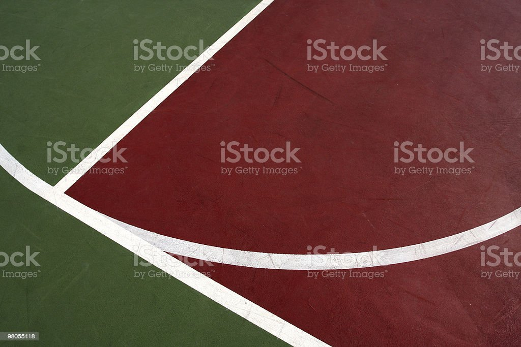 Outdoor Basketball Court Lines royalty-free stock photo