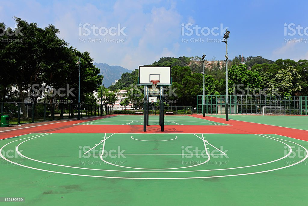 Outdoor basketball court royalty-free stock photo