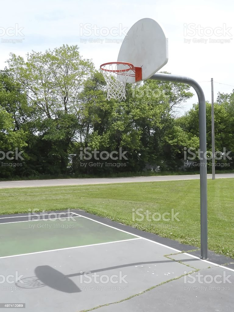 Outdoor Basketball Court .
