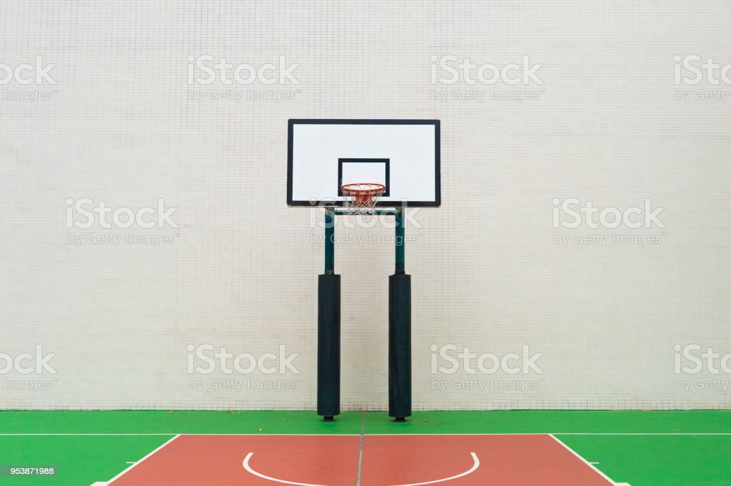 Outdoor  basketball court stock photo