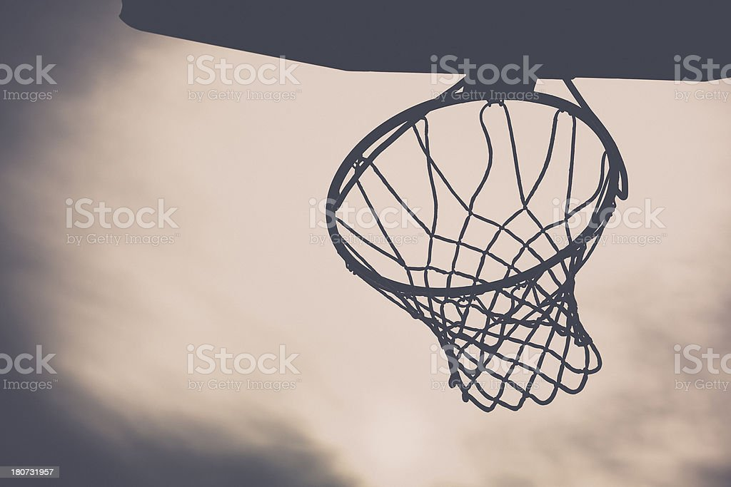 Outdoor Basketball Hoop royalty-free stock photo